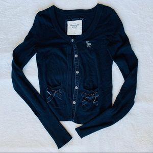 Abercrombie & Fitch navy sweater cardigan size S